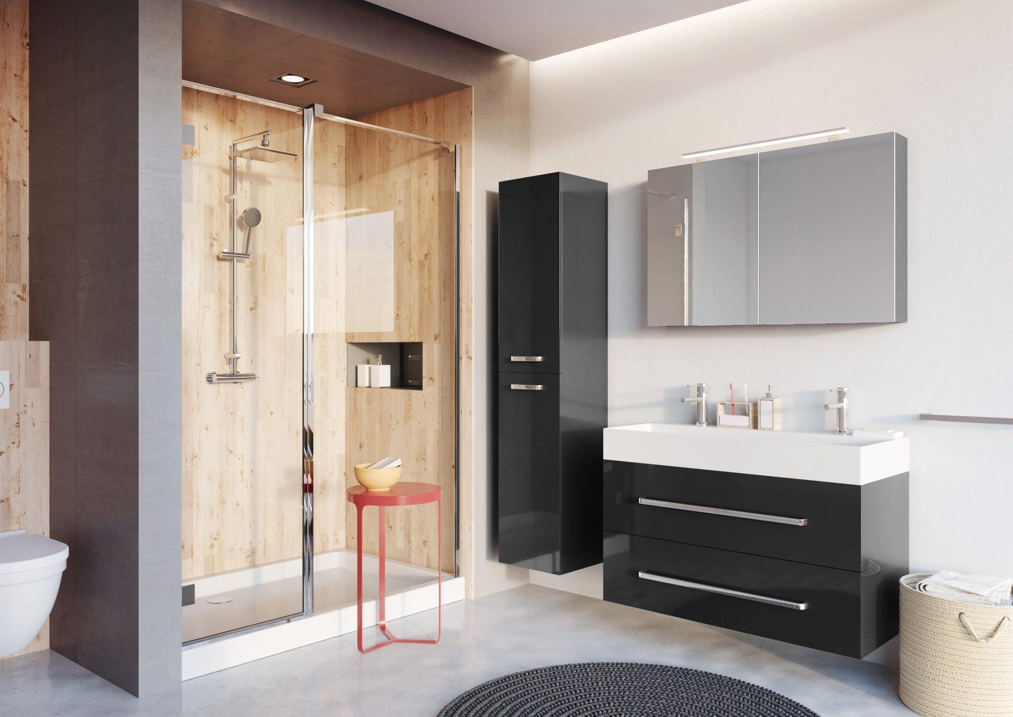 Mooi badkamermeubel met instapdouche badkamermeubels ontwerpen