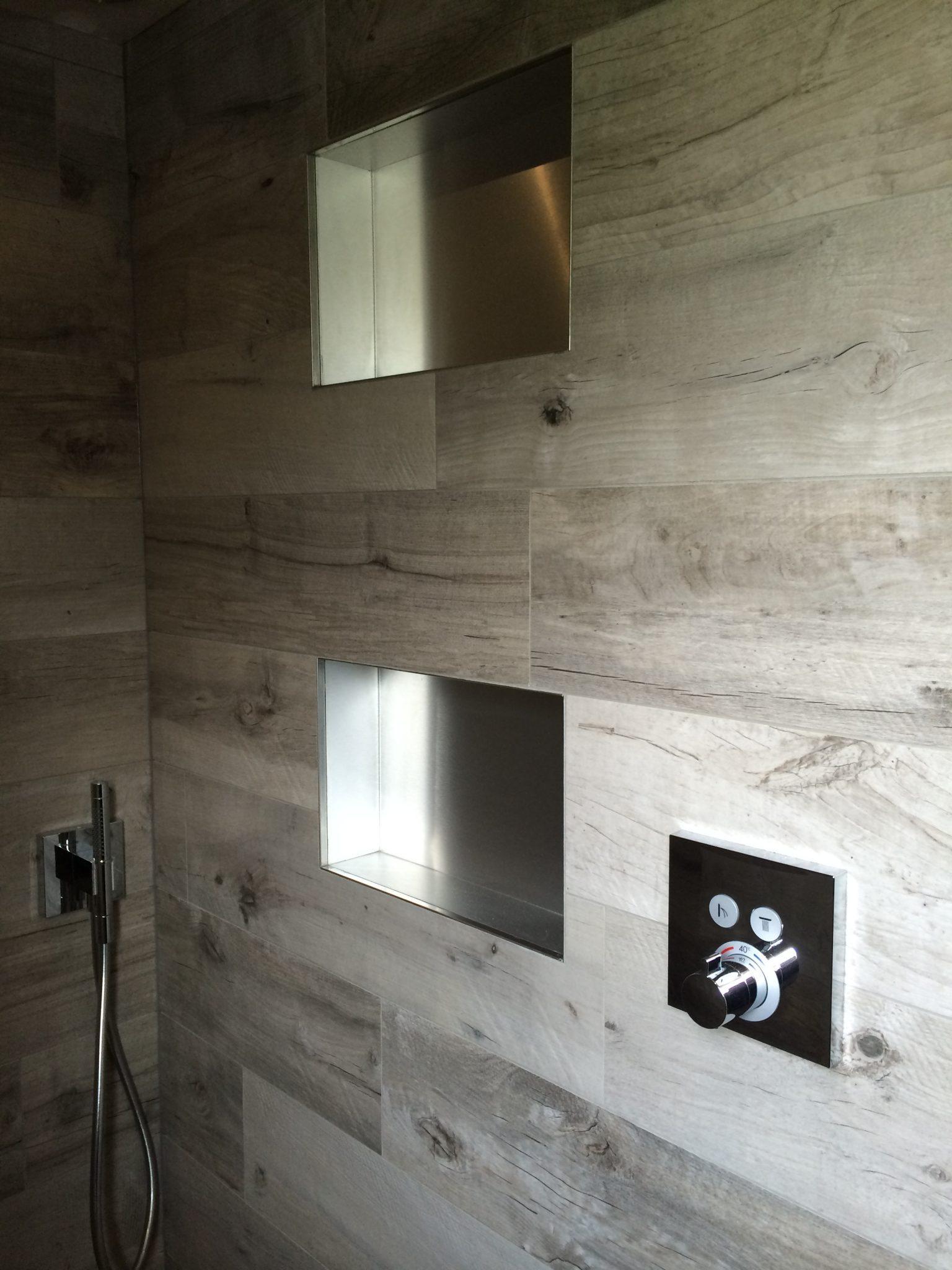 Inbouwnis rvs badmeesters for Badkamer laten ontwerpen